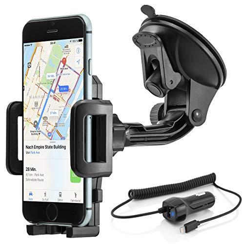 Universal 360° girevole auto Mobile Smartphone auto supporto a ventosa Apple iPhone 5 / 5 / 6 / 6 Plus / 6S / 6S Plus; Samsung Galaxy S3 / S4 / S5 / S6 / S6 Edge / Note 2, 3, 4, 5, Edge; Sony Xperia; HTC One, Desire; LG; Huawei ecc.