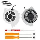 S-Union New Replacement Internal Cooling Fan for Sony Playstation 4 PS4 CUH-10XXA CUH-11XXA CUH-1115A 500GB KSB0912HE Series (With Screwdrivers T8+T10 and Thermal Grease)