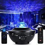 TYCOLIT Lámpara Proyector, Luz Nocturna Infantil Estrellas & Océano 2 in 1 con Rotación y Música Temporización y...