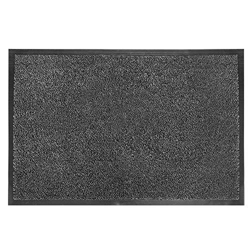 "Fasmov Absorbent, Non-Slip Carpet Entrance Mat Indoor Outdoor Entrance Rug Floor Mats Shoe Scraper Doormat, 17.7""x 29.5""(Gray)"