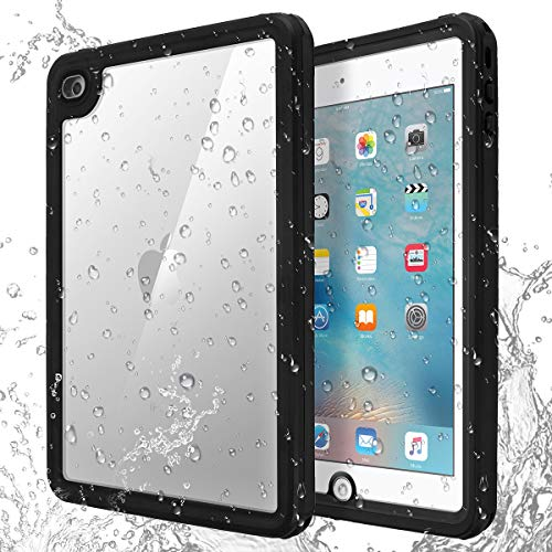 iPad Mini 4 Waterproof Case, IACase IP68 Waterproof iPad Mini 4 Waterproof Case with Lanyard Built-in Screen Protector Rugged Waterproof Shockproof Case for Apple iPad Mini 4
