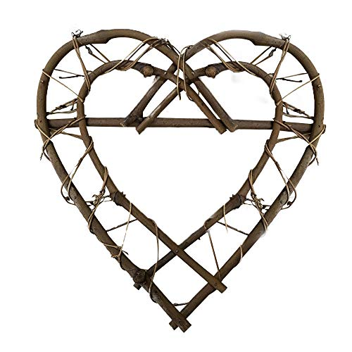æ—  10.2inch Heart Wreath Frame Rattan Flower Wreath Frames Heart Shaped Wreath Ring DIY Crafts Vines Base for New Year Valentines Party Decoration