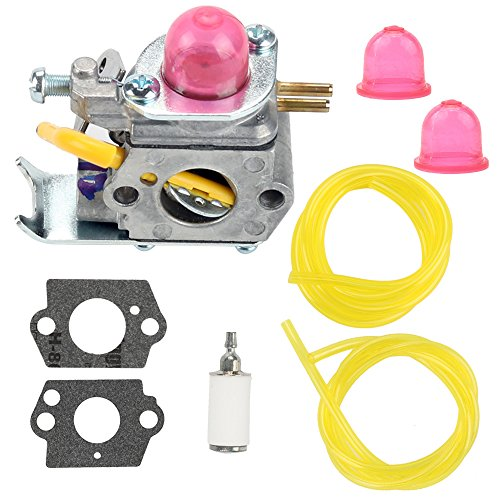 Buckbock 530071752 Carburetor with Fuel Filter Line for C1U-W18 Poulan FL20 FL20C FL25C FL26 FX26S FX26SC FX265 XT260 SST25 SST25C Craftsman Weedeater Featherlite Trimmer 530071822