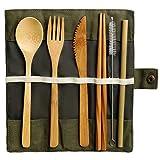 Siming Set Couverts Portable, Vaisselle Extérieure, Couteau Fourchette Cuillère...