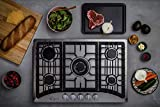 Empava 30' Gas Stove Cooktop with 5 Italy Sabaf Sealed Burners NG/LPG Convertible in Stainless Steel, 30 Inch