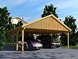 Carport Satteldach MONTE CARLO VI 600x900cm KVH-Holz Satteldachcarport