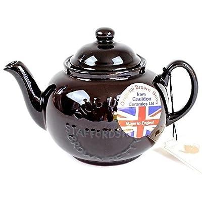"Handmade Original Brown Betty 4 Cup Teapot with ""Original Staffordshire"" Logo (1-Pack)"