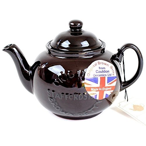 Handmade Original Brown Betty 4 Cup Teapot with quotOriginal Staffordshirequot Logo 1Pack