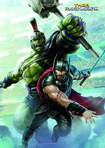 Thor: Ragnarok - Hulk, Poster, Marvel Comics, Superheroes, Journal for Writing, Sketchbook (130 Pages, 8,27' x 11,69', in lines with a margin), ... Gift  for Men Girls Teens Students Adults