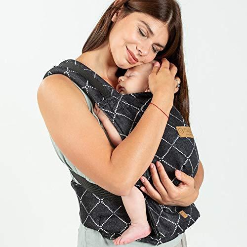 Isara Quick Full Buckle Diamonda - Mochila portabebés, color negro