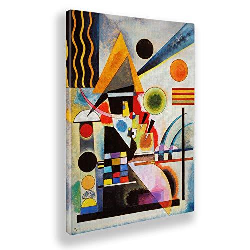 Giallobus - Pinturas - Vassily Kandinsky - Oscilación - Lienzo - 50x70 - Listo para Colgar - Cuadros Modernos para el hogar