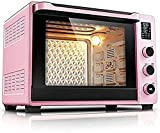 Horno eléctrico,Horno Sobremesa Horno Air Freidora - Horno de tostadora 40L Horno eléctrico de encimera y parrilla, 2.5x más rápido que una freidora de aire de horno convencional ( Color : Pink )