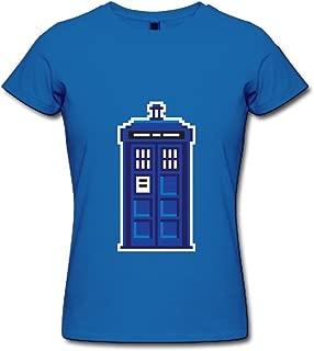 Jiuzhou Women's T-Shirt Tardis Doctor Who Navy