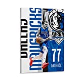 Luca Duncic Poster, One Person, One City, Loyal Player, Basketball All Star Player, No.77 Shirt, High Definition Color Painting, Canvas Painting, Diamond Decoration Poster Decorative Painting Canvas W