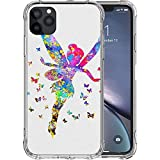 JIANGNIUS Funda iPhone 7 Case,Funda iPhone 8 Case [Airbags Cushion] Soft TPU Silicone Shockproof Cell Phone Cases Ti nker Be ll NCIJU