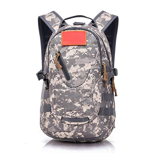 MMWYC Backpack Outdoor Camouflage Rucksack Waterproof Canvas Daypack Hiking Camping Travel Classic Backpack(20L) (Color : F)