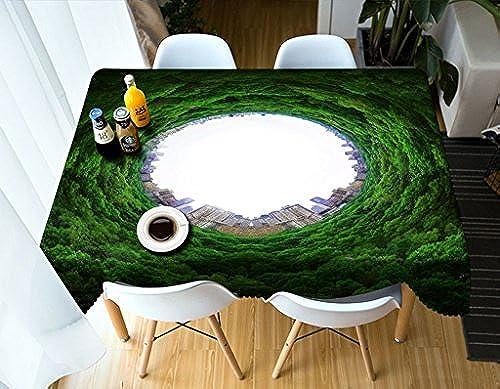 Qiao jin Tischdecke Rechteckige Tischdecke - 3D personalisierte Tischdecke PG01031 - Umweltfreundlich und geschmacklos - Digitaldruck Wasserdicht (Größe   Square -228cm228cm)