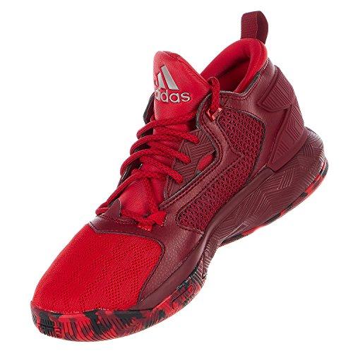 adidas D Lillard 2 Mens Basketball Shoe 12.5 Scarlet/Burgundy/White