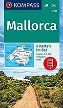 Carta escursionistica n. 2230. Mallorca 1:35.000 (set di 4 carte): 4 Wanderkarten 1:35000 im Set inklusive Karte zur offline Verwendung in der KOMPASS-App. Fahrradfahren.