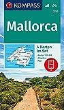 KOMPASS Wanderkarte Mallorca: 4 Wanderkarten 1:35000 im Set inklusive Karte zur offline Verwendung in der KOMPASS-App. Fahrradfahren. (KOMPASS-Wanderkarten, Band 2230) - KOMPASS-Karten GmbH