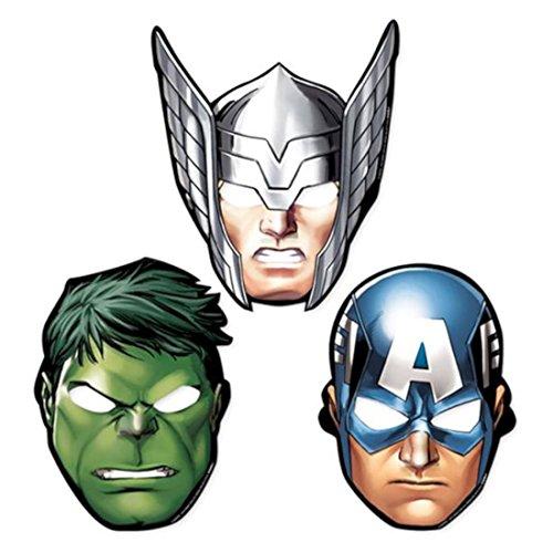 Avengers Rassemblement En forme de Masques De Fête x 8