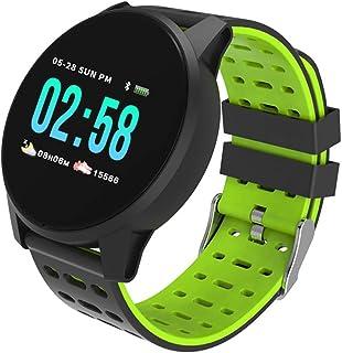WF Pulsera Actividad Inteligente Tension Arterial, Contador de Calorías Pulsómetro Deporte Impermeable Smartwatch Podómetro Pantalla Táctil Completa para Hombres Mujeres Niños