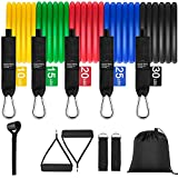 Renoj Resistances Bands, Exercise Bands Set for Exercise Band [11 Pack] (100LBS)
