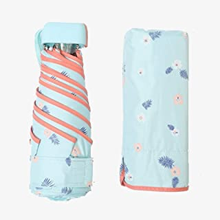 Umbrella Windproof Umbrella Folding Ultra Light UV Protection Folding Mini Dual Use Female (Size : F)