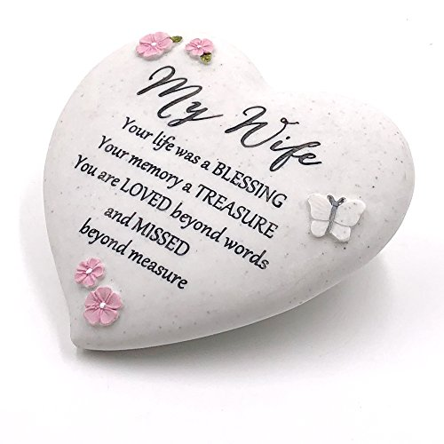 Graveside Memorial My Wife Remembrance Heart Ornament