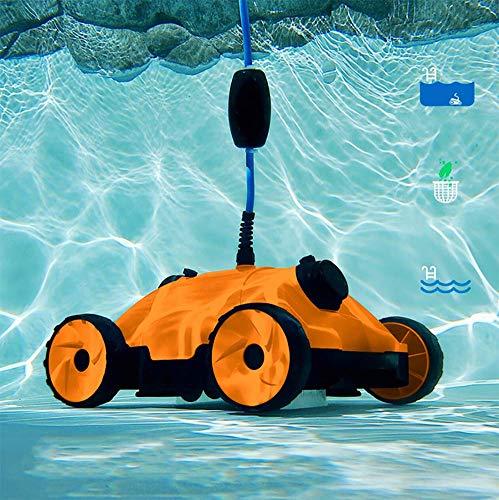 JXWWN Robot limpiafondos para Piscinas (Fondo, Paredes y Línea de Flotación)