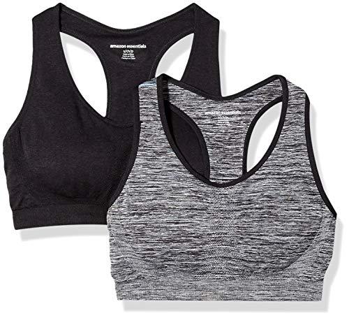 Amazon Essentials - Sportunterwäsche für Damen in Black Space Dye/Schwarz, Größe L