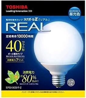 東芝 電球形蛍光ランプ 《ネオボールZ リアル》 電球40Wタイプ(G形) 3波長形昼光色 E26口金 EFG10ED/7-Z