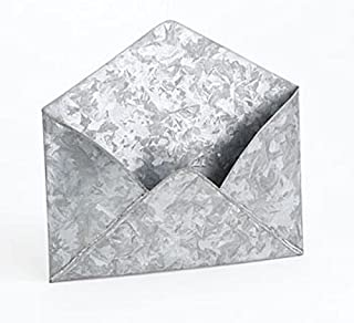 Metal Wall Envelope (Galvanized, Set of Three)