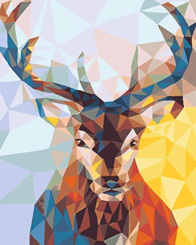 DIY Paint by Numbers Kit for Adults - Christmas Deer Doe | Paint by Numbers Landscape Scene Paintings Arts Craft for Home Wall Decor | Pre-Printed Art-Quality Canvas 20