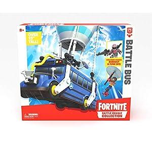 Fortnite 63512 Royale Collection Battle Bus y 2 Figuras exclusivas Funk Ops y Burnout, Azul