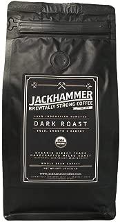 Jackhammer Dark Roast Sumatra Organic Coffee, Whole Bean 1 LB