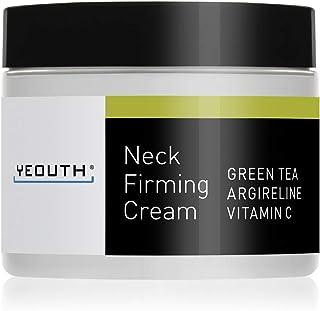 YEOUTH 颈霜,可紧致肌肤、抗衰老抗皱保湿霜、紧肤、改善双下巴、收紧火鸡脖、修复绉皮,含绿茶、六胜肽、维他命C,美国制造 - 保证
