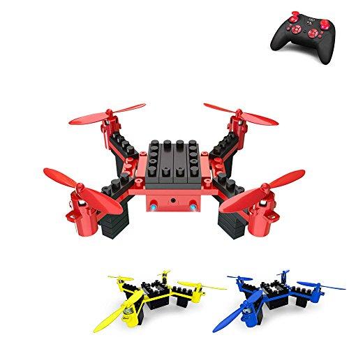 HSP Himoto 4.5 Kanal RC Ferngesteuerter Quadcopter aus Bausteinen, DIY Drohne Modellbau, Komplett-Set inkl. Fernsteuerung, Akku, Ladekabel