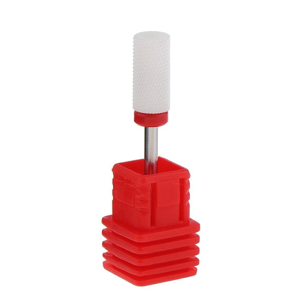 矩形不平を言ううめきPerfeclan 全6色 研磨ヘッド 電気ドリル ネイルアート ドリルビット マニキュア ペディキュア適用 - レッド