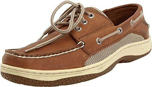 Sperry Men's Billfish 3-Eye Boat Shoe, Dark tan, 15 Wide US