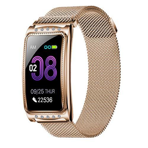 QAK Nuevo Reloj Inteligente F28 para Android iOS iOS MEDICIÓN CARACTERÍTICA MEDICIÓN SHYGMOMANETRÓMEZO Pulsera De Las Mujeres Bluetooth Pulsera De Fitness Impermeable,C