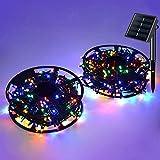 JMEXSUSS Solar String Light 600LED 206.7ft 8 Modes Solar Christmas Lights Waterproof Outdoor Fairy...