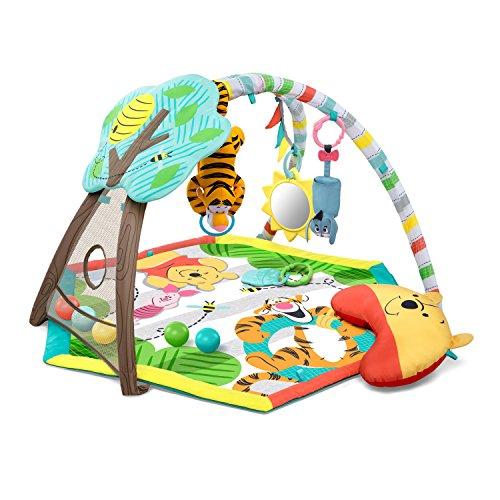 Bright Starts, Disney Baby, Winnie Puuh Spieldecke mit Spielbogen, Musik, fünf Bällen, einem Kissen und einer Fingerpuppe