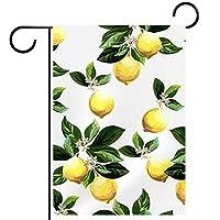 ガーデンサイン庭の装飾屋外バナー垂直旗柑橘系のパターンオールシーズンダブルレイヤー