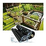 RT-OSXE 0.5mm Flexible Fischteichfolie, Faltbar Dauerhaft Wasserdicht Stoff, Teichfolien für Garten Pflanze Pflanzen, Reißfest, Anpassbar (Color : Black (0.5mm), Size : 5mx6m)