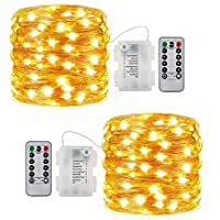 2-Pack Ittiot 16.4 Ft Battery Operated LED Fairy Lights