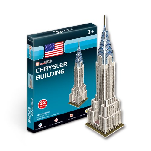 CubicFun - Famous Buildings 3D Puzzle - Toy Model Architecture Monument - Chrysler Buildung 29cm
