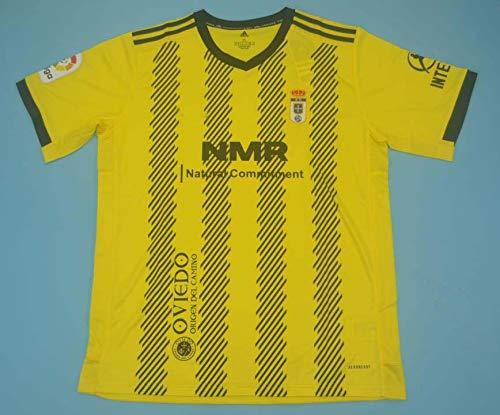 ADI Oviedo Jersey Camiseta DE FÚTBOL 2020-2021 League Patch Yellow Color (L)
