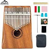EastRock Kalimba 17 Keys Thumb Piano,with Hand-Rest Curve Design and EVA High-Performance Protective Box,Easy Learn Portable Musical Instrument Gifts for Kids Adult Beginners (Mahogany)