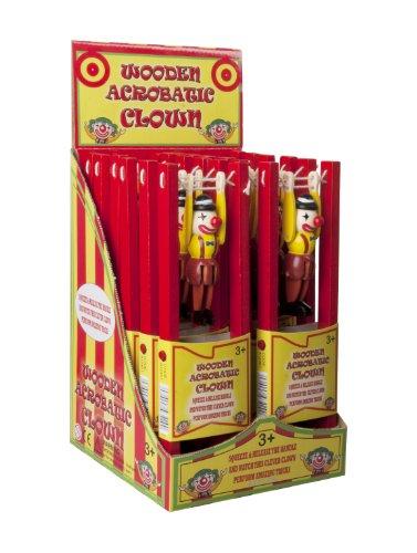 Great Gizmos - Gga12461 - Mini-Poupée - Clown Acrobate En Bois